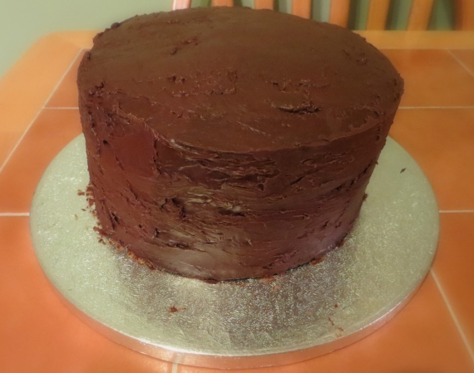 Finished Death by Chocolate Cake