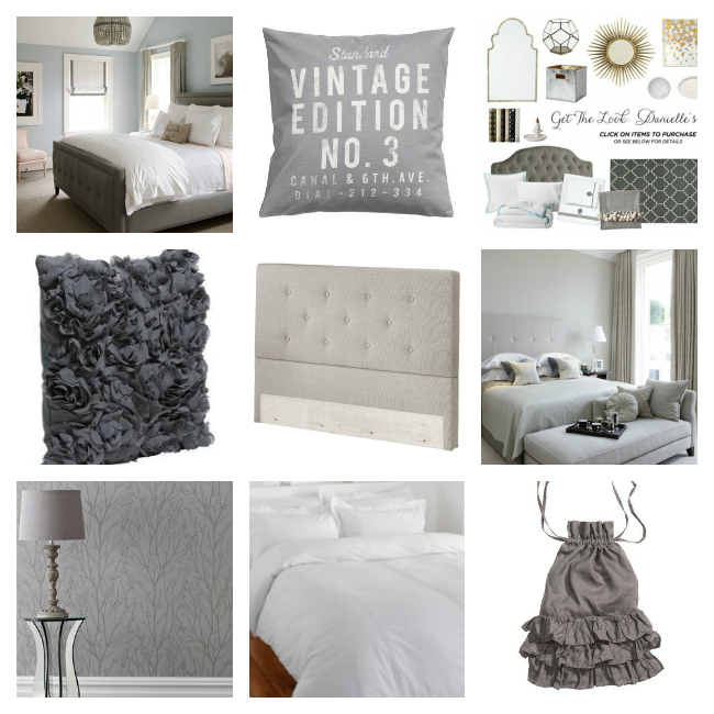 Grey Bedroom Inspiration Collage