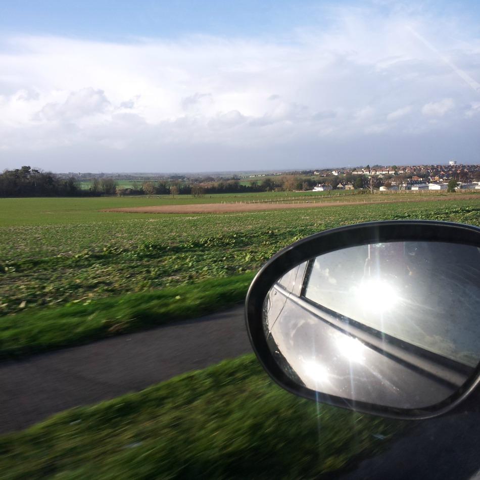 East Kent landscape from the car window. February 2014, RachelBirchley.com