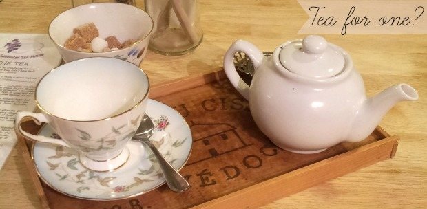 Tea for one at the Lavender Tea House, Folkestone