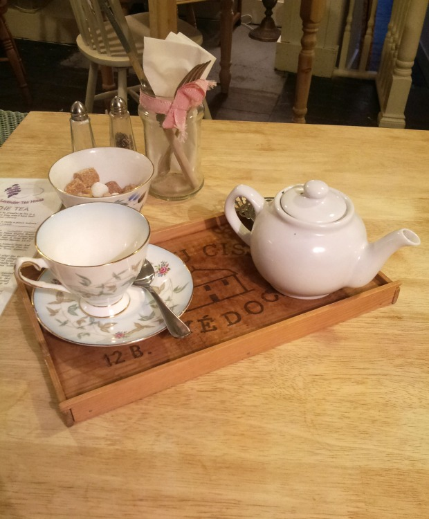 Tea tray at Lavender Tea House