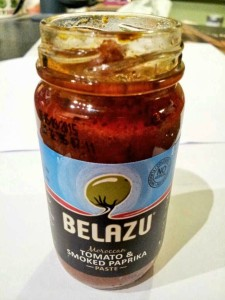 Belazu smoked paprika and tomato paste. Great for pizza topping.