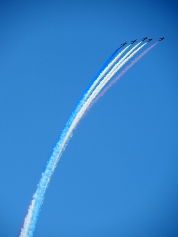 Red Arrows soaring up high