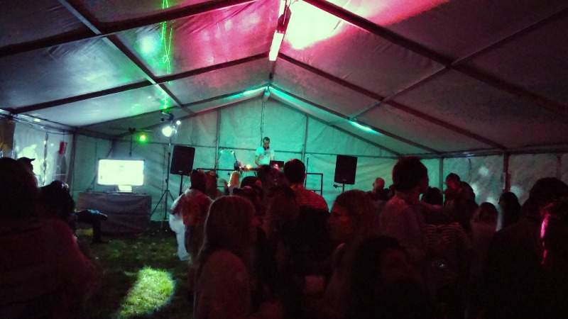 Disco tent Blogstock 2014