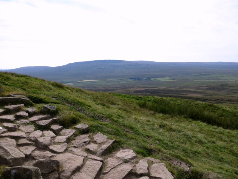 Nearly at the top of Pen-y-Ghent