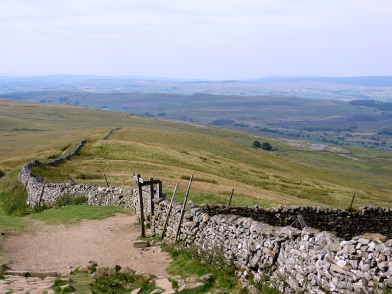 Yorkshire Dales vista from Pen-y-Ghent
