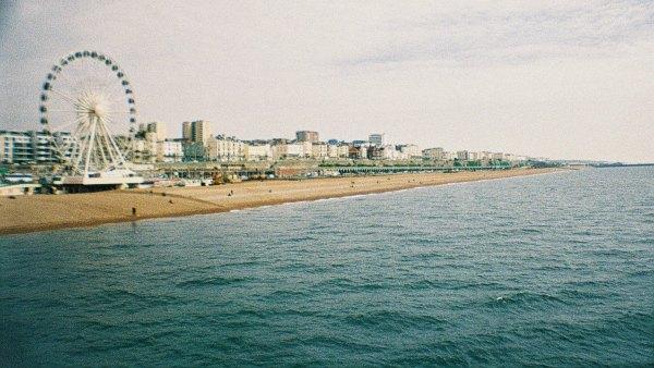 Brighton beach from the pier
