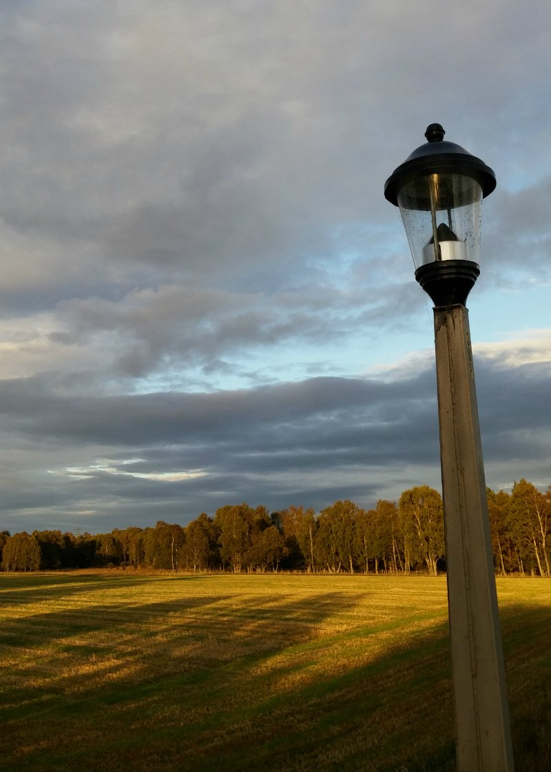Streetlight on bridge at Boat of Garten, Speyside