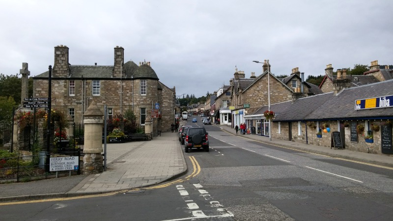 Pitlochry main street, Perthshire
