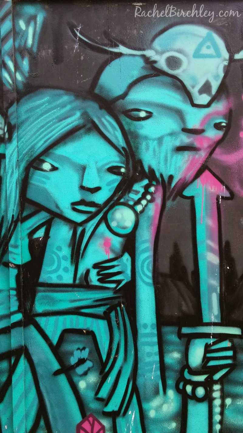 People graffiti Folkestone Old High Street