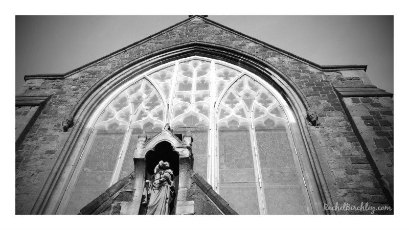 St Mary and St Eanswythe Church B&W